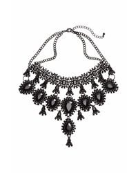 H&M | Black Metal Necklace | Lyst