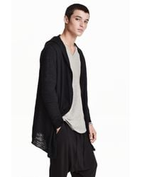 H&M | Black Hooded Cardigan for Men | Lyst