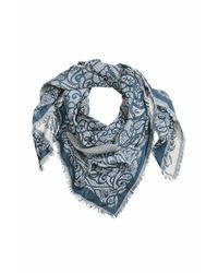 H&M | Blue Jacquard-weave Scarf | Lyst