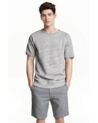 H&M | Gray Short-sleeved Sweatshirt for Men | Lyst