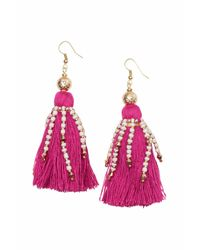 H&M | Pink Earrings With Tassels | Lyst