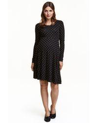 H&M | Black Mama Jersey Dress | Lyst