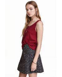 H&M | Red Vest Top With Scalloped Edges | Lyst
