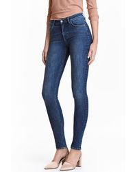 H&M | Blue Shaping Skinny Regular Jeans | Lyst