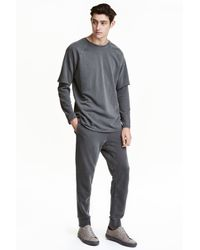 H&M | Gray Joggers for Men | Lyst