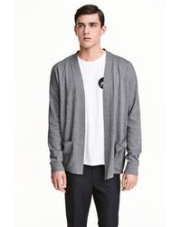 H&M | Gray Cotton Cardigan for Men | Lyst