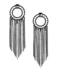 H&M | Gray Large Earrings | Lyst
