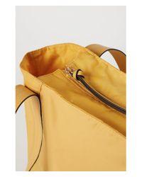 H&M - Yellow Nylon Shopper - Lyst