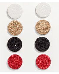 H&M - Red 4 Pairs Earrings - Lyst