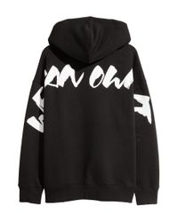H&M - Black Oversized Hooded Top for Men - Lyst