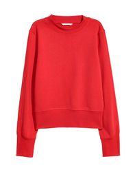H&M Red Sweatshirt