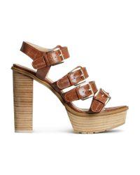 H&M | Brown Platform Sandals | Lyst