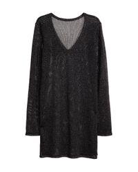 H&M | Black Glittery Jumper | Lyst