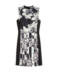 H&M | Black Patterned Dress | Lyst