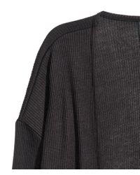 H&M - Black Rib-knit Cardigan - Lyst