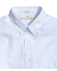 H&M - Blue Cotton Shirt for Men - Lyst