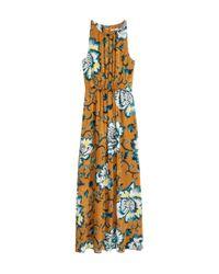 H&M - Brown Sleeveless Maxi Dress - Lyst