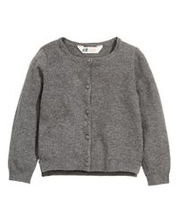 H&M | Gray Cotton Cardigan | Lyst