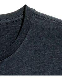 H&M - Black Short-sleeved Henley Shirt for Men - Lyst