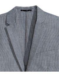 H&M - Gray Jacket Slim Fit for Men - Lyst