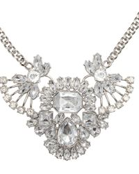 H&M - Metallic Necklace With Sparkly Pendant - Lyst