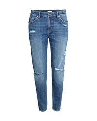 H&M | Blue Girlfriend Jeans | Lyst