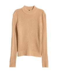 H&M | Natural Rib-knit Jumper | Lyst