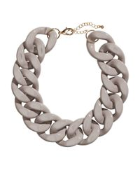 H&M - Gray Short Necklace - Lyst