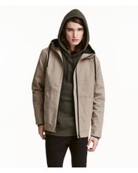 H&M - Multicolor Hooded Twill Jacket for Men - Lyst