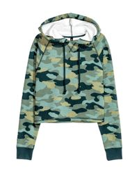 H&M - Green Hooded Top - Lyst