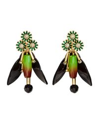 H&M - Green Sparkly Earrings - Lyst