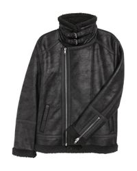 H&M Black Pile-lined Jacket for men