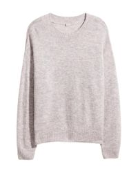 H&M - Gray + Knitted Jumper - Lyst