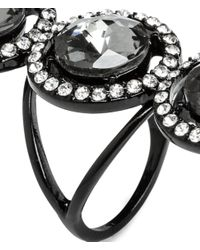 H&M - Black Ring With Sparkly Stones - Lyst
