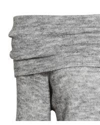 H&M - Gray Off-the-shoulder Jumper - Lyst