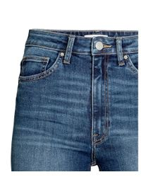 H&M - Blue Skinny High Ankle Jeans - Lyst