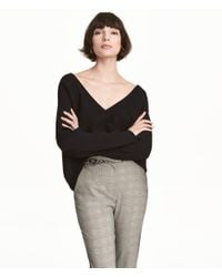 H&M | Black Rib-knit Jumper | Lyst