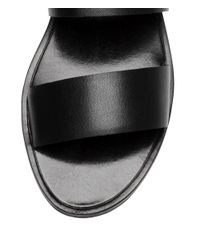 H&M | Black Leather Mules | Lyst
