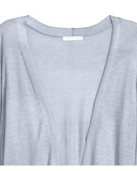 H&M Gray Long Cardigan With A Tie Belt