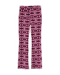 H&M   Pink Patterned Trousers   Lyst