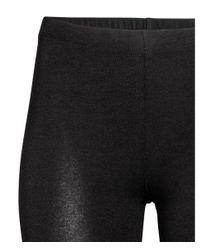 H&M - Black Cycling Shorts - Lyst
