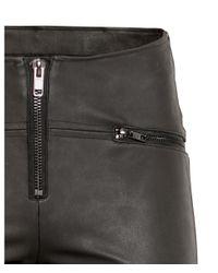 H&M - Black Biker Leggings - Lyst