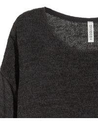 H&M   Black Loose-knit Jumper   Lyst