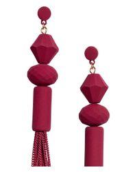 H&M - Red Long Earrings - Lyst