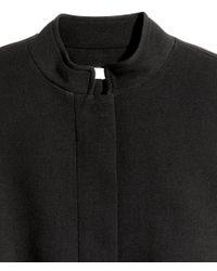 H&M - Black Coat - Lyst
