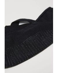 H&M - Black Non-slip Yoga Footie Socks - Lyst