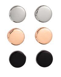 H&M - Multicolor 4 Pairs Earrings - Lyst