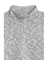 H&M - Gray Turtleneck Jumper - Lyst