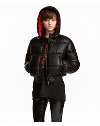 H&M - Black Padded Jacket - Lyst