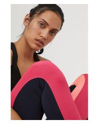 H&M - Blue Sports Tights - Lyst